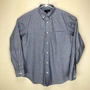 Banana Republic Factory Chambray Oxford Shirt Blue